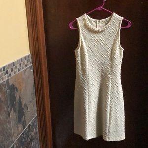 Cream Dress with Pearl Neckline, medium